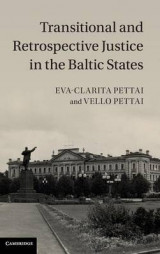 Omslag - Transitional and Retrospective Justice in the Baltic States