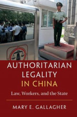 Omslag - Authoritarian Legality in China