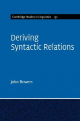 Omslag - Deriving Syntactic Relations