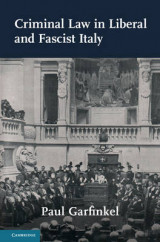Omslag - Criminal Law in Liberal and Fascist Italy