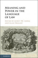 Omslag - Meaning and Power in the Language of Law