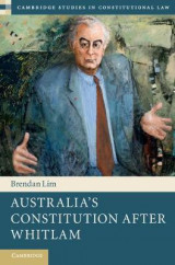 Omslag - Australia's Constitution After Whitlam