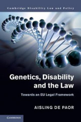 Omslag - Genetics, Disability and the Law