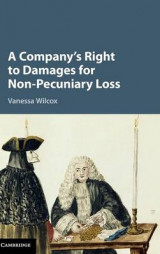 Omslag - A Company's Right to Damages for Non-Pecuniary Loss