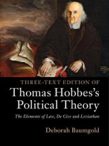Omslag - Three-Text Edition of Thomas Hobbes's Political Theory