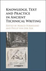Omslag - Knowledge, Text and Practice in Ancient Technical Writing