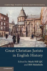 Omslag - Great Christian Jurists in English History