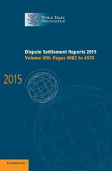 Omslag - Dispute Settlement Reports 2015: Pages 4083-4570 Volume 8