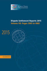 Omslag - Dispute Settlement Reports 2015: Pages 3565-4082 Volume 7