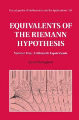 Omslag - Equivalents of the Riemann Hypothesis: Volume 1, Arithmetic Equivalents