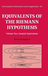 Omslag - Equivalents of the Riemann Hypothesis: Volume 2, Analytic Equivalents