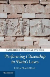 Omslag - Performing Citizenship in Plato's Laws