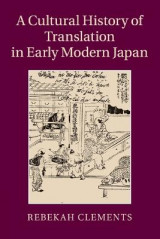 Omslag - A Cultural History of Translation in Early Modern Japan