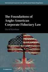 Omslag - The Foundations of Anglo-American Corporate Fiduciary Law