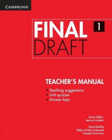 Final Draft Level 1 Teacher's Manual av David Bohlke, Robyn Brinks Lockwood og Pamela Hartmann (Heftet)
