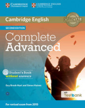 Complete Advanced Student's Book without Answers with CD-ROM with Testbank av Guy Brook-Hart og Simon Haines (Blandet mediaprodukt)