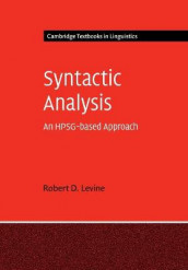 Syntactic Analysis av Robert D. Levine (Heftet)