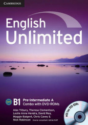 English Unlimited Pre-intermediate A Combo with DVD-ROMs (2) av Maggie Baigent, Chris Cavey, Theresa Clementson, Leslie Anne Hendra, David Rea, Nick Robinson og Alex Tilbury (Blandet mediaprodukt)