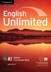 English Unlimited Starter Coursebook with e-Portfolio and Online Workbook Pack av Adrian Doff og Nick Robinson (Blandet mediaprodukt)