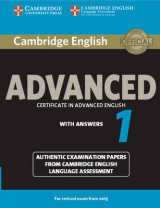 Omslag - Cambridge English Advanced 1 for Revised Exam from 2015 Student's Book with Answers