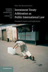 Omslag - Investment Treaty Arbitration as Public International Law