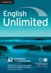 English Unlimited Elementary Coursebook with e-Portfolio and Online Workbook Pack av Maggie Baigent, Chris Cavey, Theresa Clementson, Leslie Anne Hendra, David Rea, Nick Robinson og Alex Tilbury (Blandet mediaprodukt)