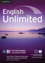 English Unlimited Pre-intermediate Coursebook with e-Portfolio and Online Workbook Pack av Maggie Baigent, Chris Cavey, Theresa Clementson, Leslie Anne Hendra, David Rea, Nick Robinson og Alex Tilbury (Blandet mediaprodukt)