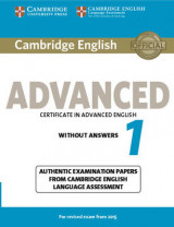Omslag - Cambridge English Advanced 1 for Revised Exam from 2015 Student's Book without Answers
