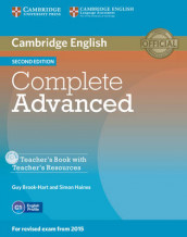Complete Advanced Teacher's Book with Teacher's Resources CD-ROM av Guy Brook-Hart og Simon Haines (Blandet mediaprodukt)