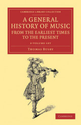 Omslag - A General History of Music, from the Earliest Times to the Present 2 Volume Set