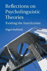 Omslag - Reflections on Psycholinguistic Theories