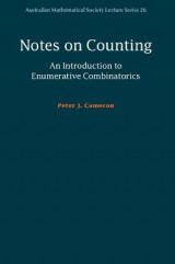 Omslag - Notes on Counting: An Introduction to Enumerative Combinatorics