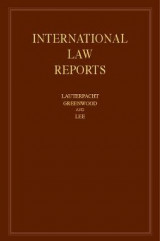 Omslag - International Law Reports: Volume 170