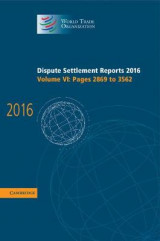 Omslag - Dispute Settlement Reports 2016: Volume 6, Pages 2869 to 3562
