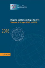 Omslag - Dispute Settlement Reports 2016: Volume 4, Pages 1545 to 2272