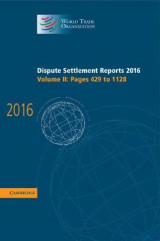 Omslag - Dispute Settlement Reports 2016: Volume 2, Pages 429-1128