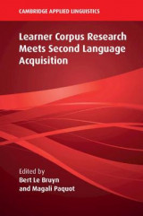 Omslag - Learner Corpus Research Meets Second Language Acquisition