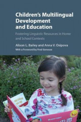 Omslag - Children's Multilingual Development and Education