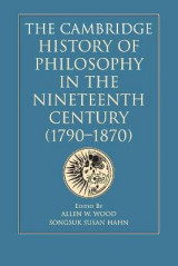 Omslag - The Cambridge History of Philosophy in the Nineteenth Century (1790-1870)