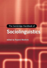 Omslag - The Cambridge Handbook of Sociolinguistics