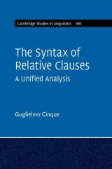 Omslag - The Syntax of Relative Clauses