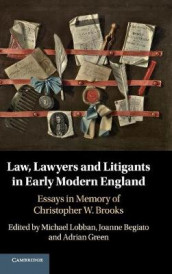 Law, Lawyers and Litigants in Early Modern England (Innbundet)