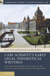 Omslag - Carl Schmitt's Early Legal-Theoretical Writings