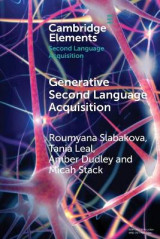 Omslag - Generative Second Language Acquisition