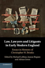 Omslag - Law, Lawyers and Litigants in Early Modern England