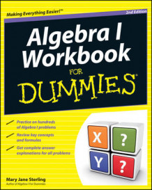Algebra I Workbook For Dummies av Mary Jane Sterling (Heftet)