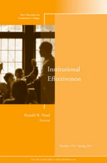 Institutional Effectiveness Spring 2011 av CC (Community Colleges) (Heftet)