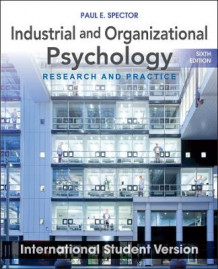 Industrial and Organizational Psychology: Research and Practice av Paul E. Spector (Heftet)