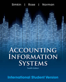 Accounting Information Systems av Mark G. Simkin og Carolyn Strand Norman (Heftet)