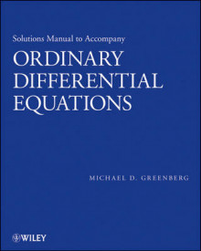 Solutions Manual to accompany Ordinary Differential Equations av Michael D. Greenberg (Heftet)